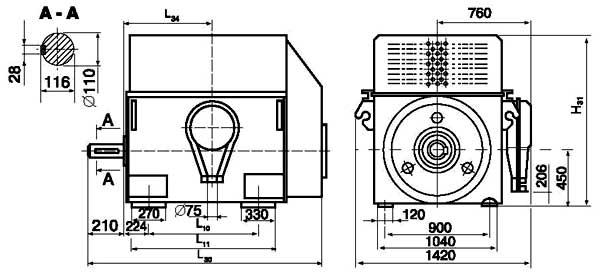 Двигатели серии ДАЗО4-450